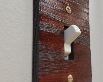Rustic Red Oak Single Light Switch Cover