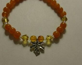Fall leaf bracelet