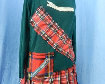 Punky Tartan Jumper dress