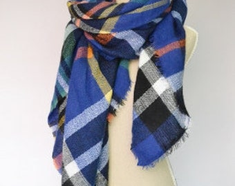 PRE-ORDER ONLY* Soft Blue + Colours Scarf