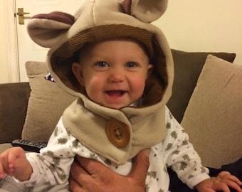 6 Months - Adult Monkey - Cowl Hood -