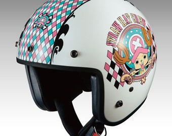 Ogk kabuto Motorcycle Helmet  BOB-K Custom paint Anime ONEPIECE CHOPPER