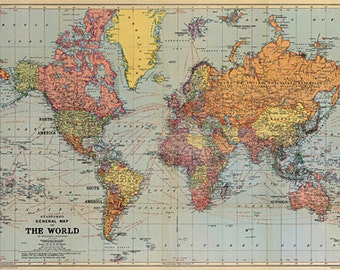 Cavallini World Map Paper