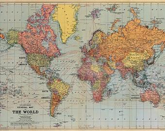 Papel de mapa mundo Cavallini