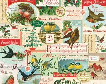 Cavallini Christmas Birds Wrap