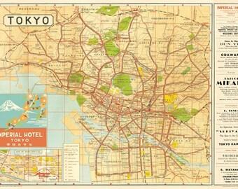 Cavallini Tokyo Map Paper