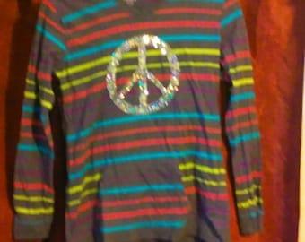 girls peace hoodie