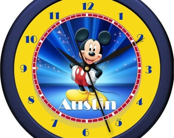 "Mickey Mouse 2 Personalized 10"" Nursery / Children Wall Clock"