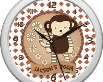 "Nali Giraffe Personalized 10"" Nursery / Children Wall Clock"