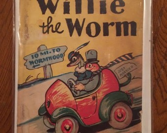 Signed. Willie the Worm by Rosemary Martin