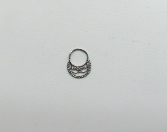 Kismet Ring Silver 16G Septum Ring