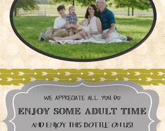 Customized Photo Wine Bottle Label