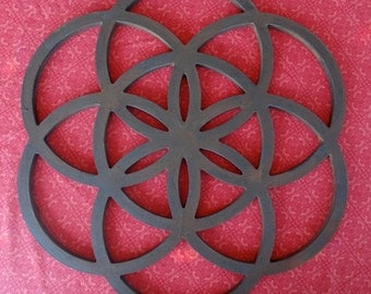Rusted Seed of Life Wall Hanging
