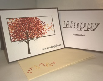 Masculine Fall Birthday Card