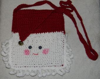 Crocheted Santa Purse