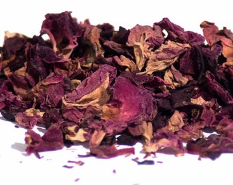 Organic Sweet Rose Herbal Tea Pouch. Sweet Tea as hot or cold beverage. Loose Leaf Tea - Hibiscus, Rose and Rooibos.