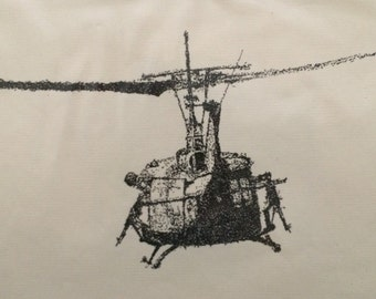 Helicopter Original Art