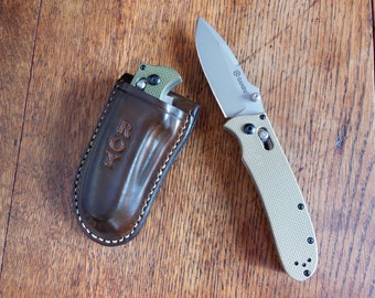 Ganzo G704 Knife with leather sheath