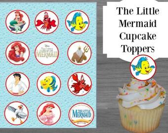 Disneys The Little Mermaid Cupcake Toppers printable
