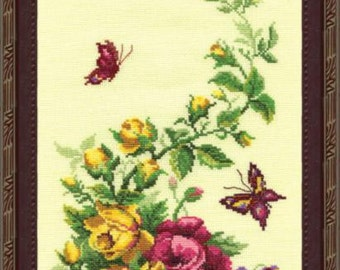 Wildflowers . Kit for Cross Stitch Embroidery