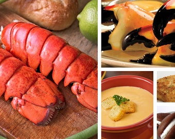 Maine Lobster Tail and Crab Claw Dinner for 2