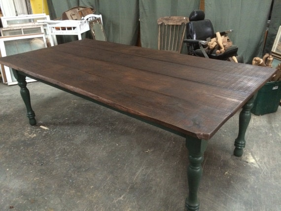 "Items similar to 3 9"" x 7 5"" farmhouse table I made from"