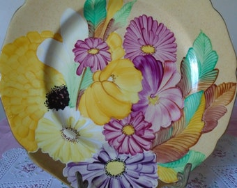 1938 grays hand painted plate