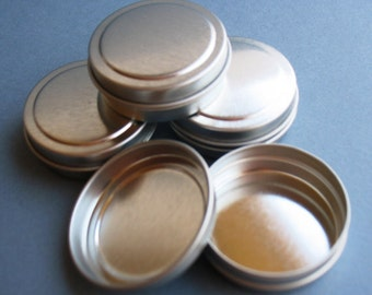 1/4 oz - 1.5 inch Round Tins - DIY Lip Balm - Solid Perfume - Wedding Favors - Tin Containers - Metal - Empty Tins