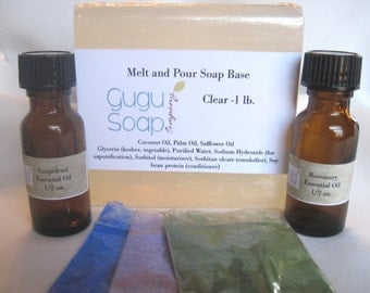 Starter Kit - DIY Soap Making - Melt and Pour Soap Making - Teen Craft - Soap Kit - Make your own - Baby Soap - Summer Craft