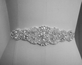 Bridal Sash, Bridal Belt, Wedding Sash, Bridesmaid Belt, Crystal Sash, Rhinestone Belt, Wedding Dress Sash, Wedding Dress Belt, style 77