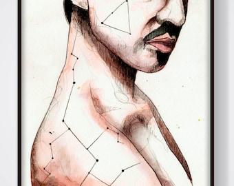 Nictofóbia (Ilustración original enmarcada Todxs Vosotrxs)