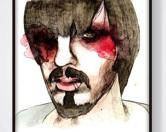 Prisa (Ilustración original enmarcada Todxs Vosotrxs)