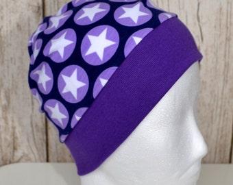 "Great handmade hat ""Maxi stars purple"""