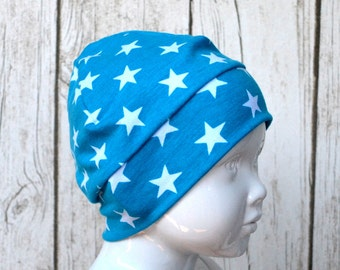 "Great handmade hat ""Star Turquoise"""
