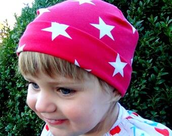 "Great handmade hat ""red Stars"""
