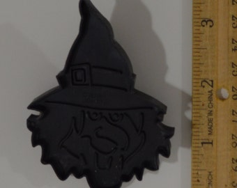 WILTON HALLOWEEN WITCH Cookie Cutter | 1990 3.25""