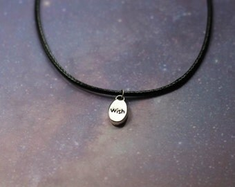 Wish Black Cord Necklace
