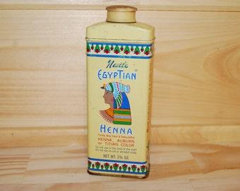 Hair Color Nestle Egyptian Henna Vintage Bathroom Tin Hair Tint Dye