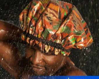 Shower Cap - Kente Kings - Shower Hat for MEN & WOMEN