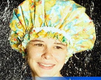 Shower Cap - Rainy Day Duck - Shower Hat for MEN & WOMEN