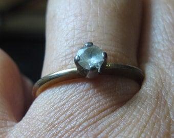Vintage Ring 18 k G.F. & sterling size 7
