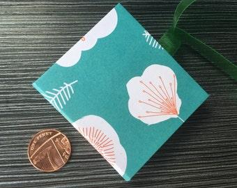 Handmade Floral Mini Pocket Notebook