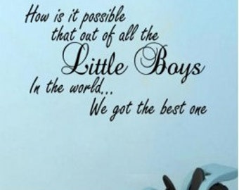 Best little boys wall sticker