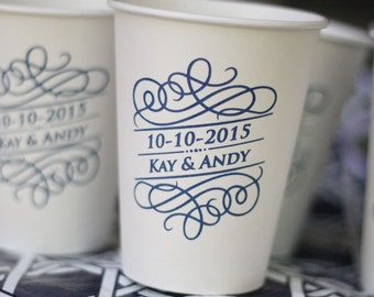 Personalized Paper Coffee Cups 12 oz - NO LIDS