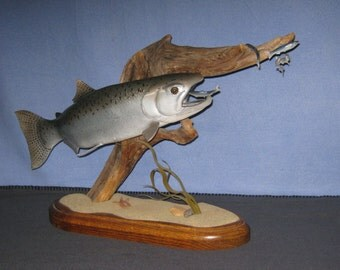 Trophy Blackmouth carving