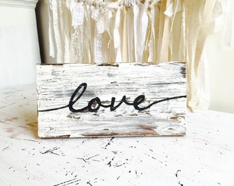Love - Chippy paint sign