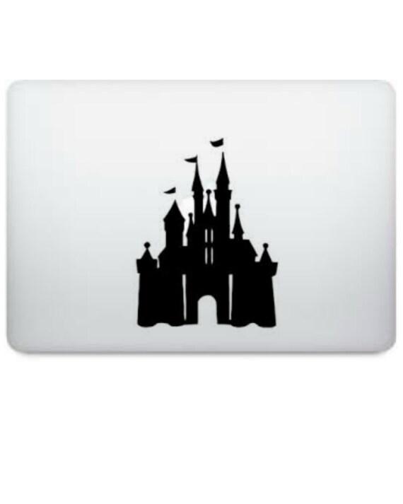 Disney Cinderella's Castle Silhouette Macbook Laptop / Car