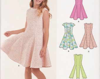 New Look 0458 6360 sewing pattern tween girl sizes 8-16 dress UNCUT