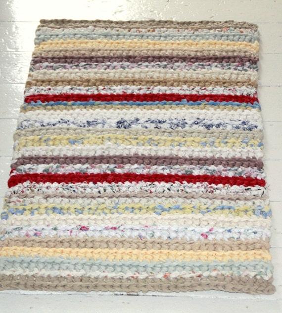 Crochet Kitchen Rugs: Items Similar To SOLD--Crocheted Rag Rug Runner