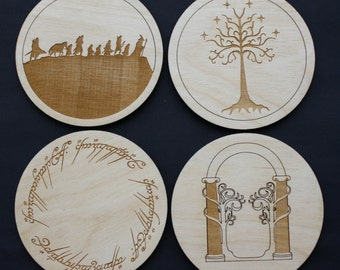 Lord of the Rings Inspired Coaster Set